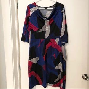 Stretchy dress by Jacob wrap waist size M